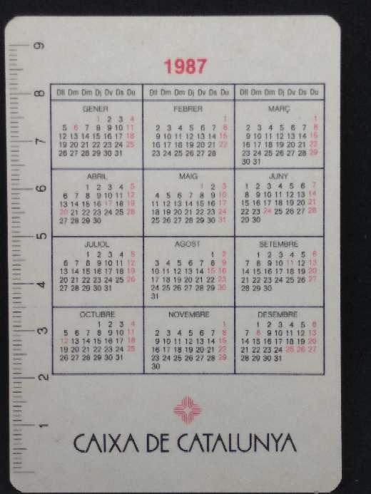 Imagen producto Calendario de Caixa de Catalunya de 1987 2