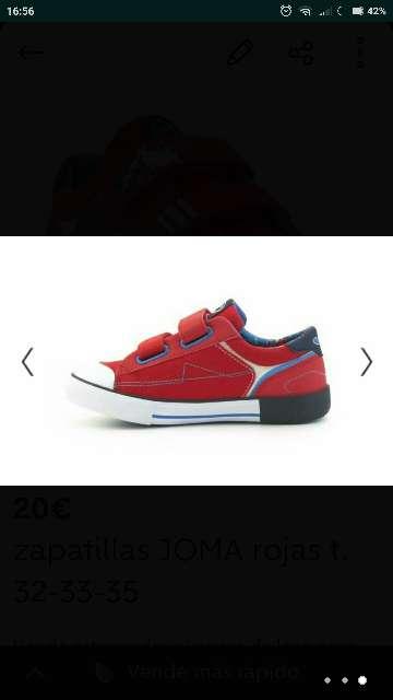 Imagen producto Zapatillas lona JOMA T. 32-33-35  3