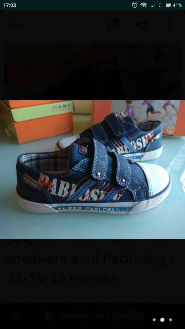 Imagen Sneakers Pablosky azul t. 33-34-35