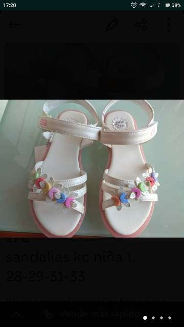 Imagen producto Sandalias blancas t. 28-29-31-33 nuevas  3