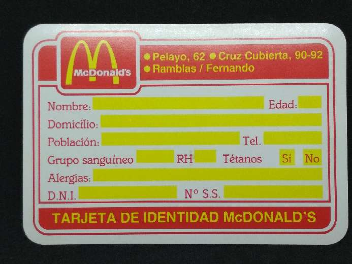 Imagen Calendario de McDonald's de 1984
