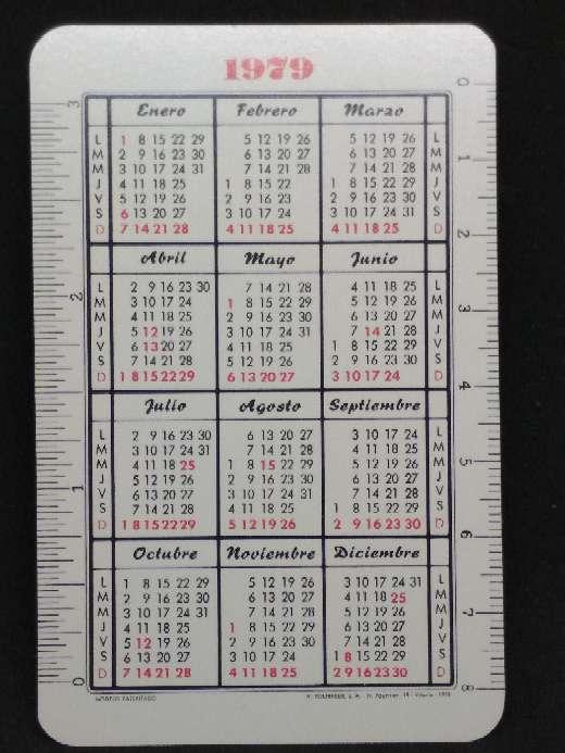 Imagen producto Calendario Fournier del Banco de Bilbao de 1979  2