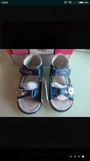 Imagen producto Sandalias piel azul BALDACCI t. 21-22-23-24  4