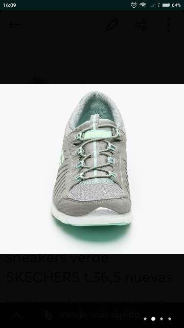 Imagen producto Skechers flex verde t. 36,5 nuevas  2