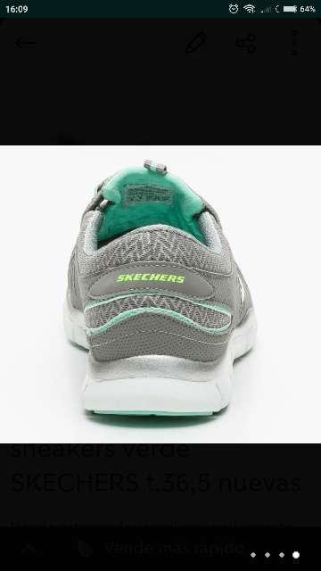 Imagen producto Skechers flex verde t. 36,5 nuevas  4