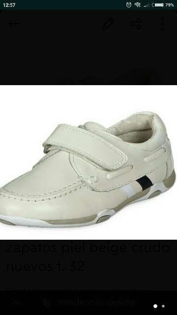 Imagen Zapatos piel beige crudo t. 32 a estrenar