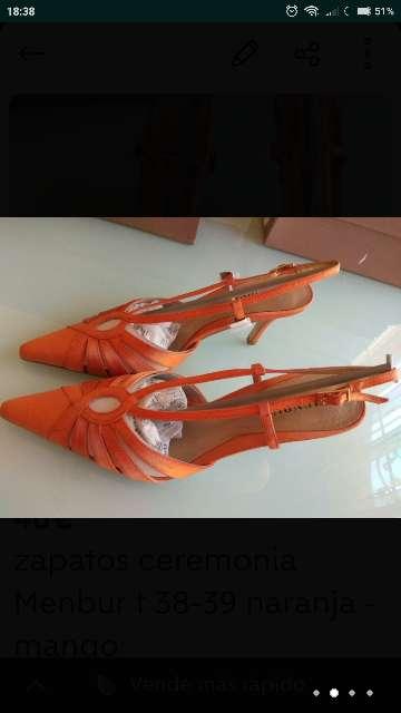 Imagen producto Zapatos ceremonia MENBUR T. 38 - 39 nuevos 2