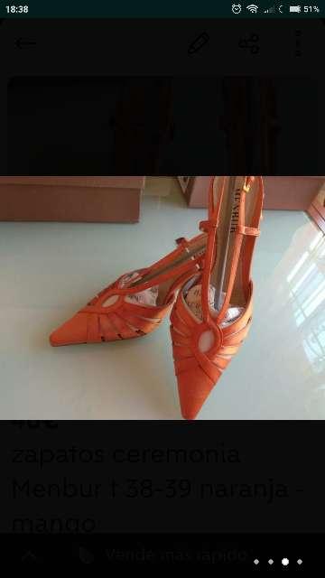 Imagen producto Zapatos ceremonia MENBUR T. 38 - 39 nuevos 4