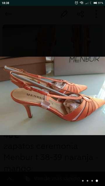 Imagen producto Zapatos ceremonia MENBUR T. 38 - 39 nuevos 3