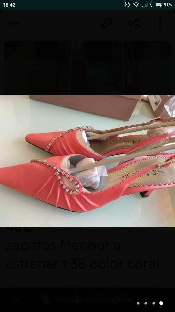 Imagen producto Zapatos MENBUR CORAL T. 38 nuevos 2