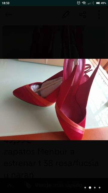 Imagen producto Zapatos MENBUR T. 38 a estrenar 2
