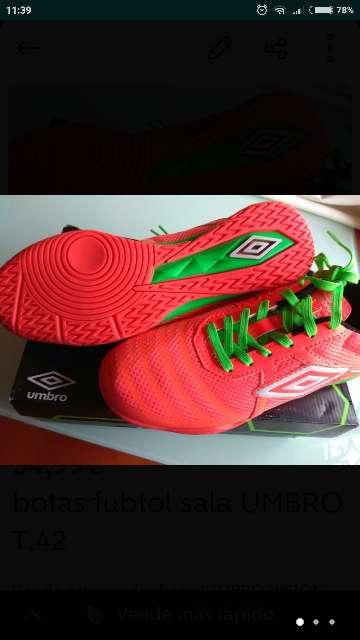 Imagen producto Botas futbol UMBRO VISION LEAGUE 4 t. 42 nuevas  2