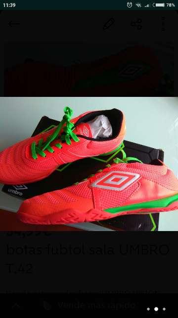 Imagen producto Botas futbol UMBRO VISION LEAGUE 4 t. 42 nuevas  3