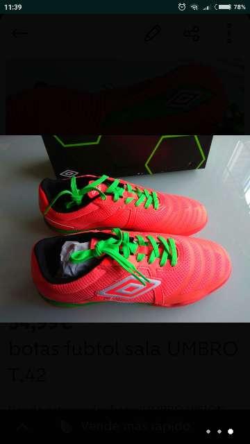 Imagen producto Botas futbol UMBRO VISION LEAGUE 4 t. 42 nuevas  1