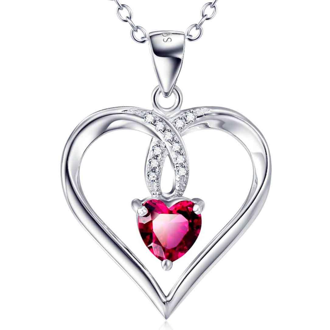 Imagen producto Colgante De Plata Corazón de Fuego 5