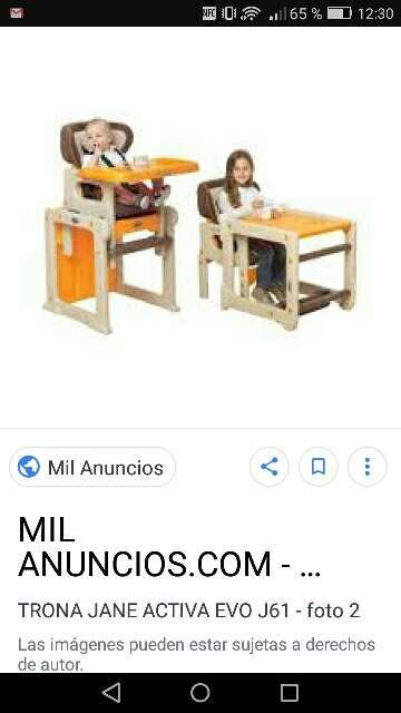 Imagen trona convertible en mesa y silla marca jane es en azul