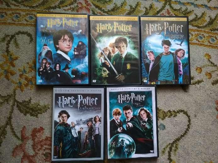 Imagen producto 5 películas en DVD Harry Potter todas por 10 € 1
