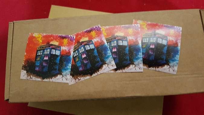 Imagen producto Pegatina TARDIS de la serie Doctor Who  2