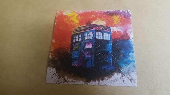 Imagen Pegatina TARDIS de la serie Doctor Who