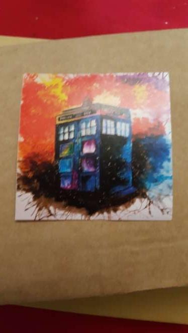 Imagen producto Pegatina TARDIS de la serie Doctor Who  3
