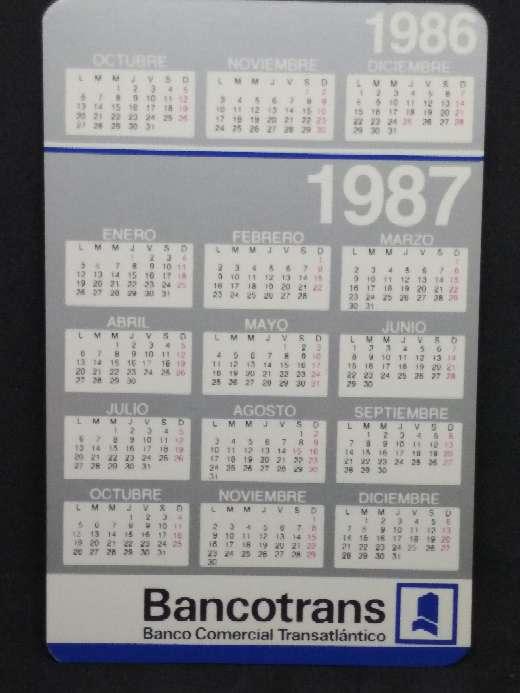 Imagen Calendario de Bancotrans de 1987
