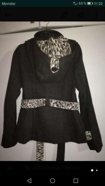 Imagen producto Abrigo gris oscuro mujer 2