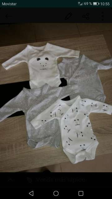 Imagen lote de bodys bebe prematuro