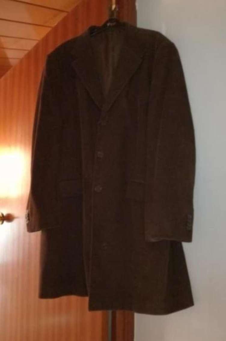Imagen abrigo largo de pana hombre