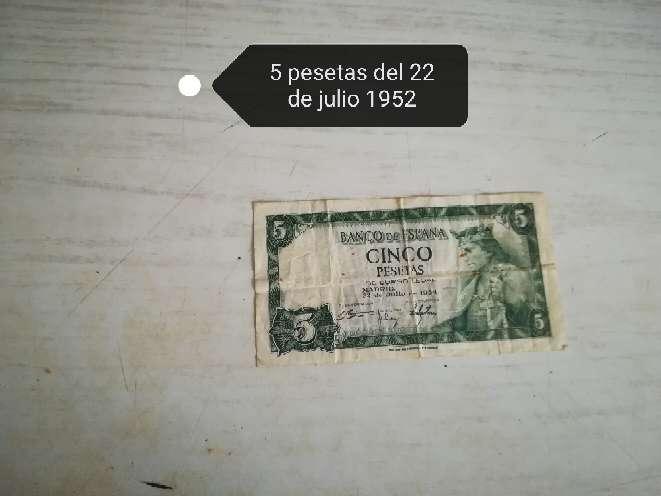 Imagen Billete de 5 pesetas