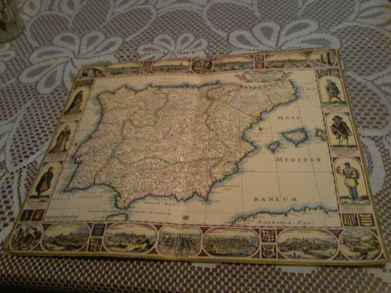 Imagen Mapa antigua de España y Portugal