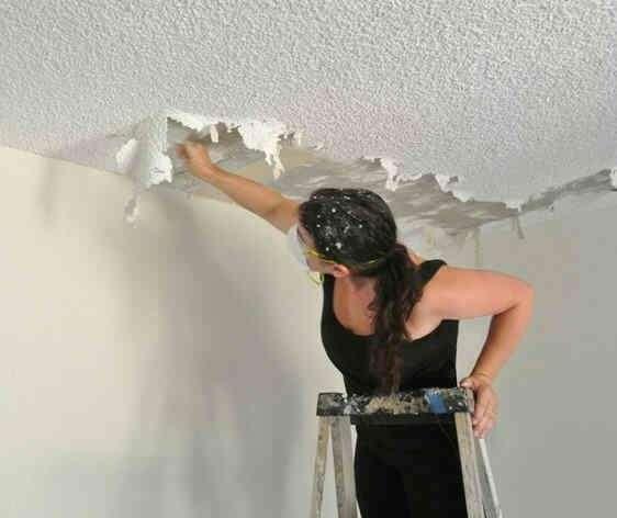 Imagen trabajo en liso y pintura muro ladrillos ieso limpiar obras 642755690
