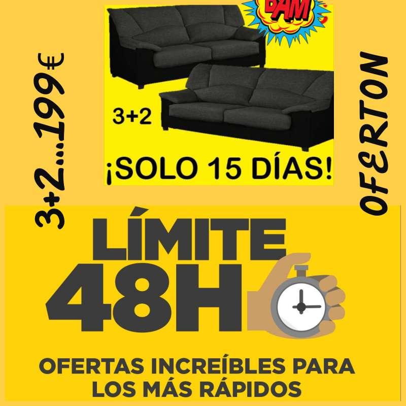 Imagen sofas 3+2 plazas sólo 199