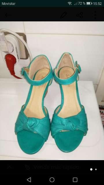 Imagen zapatos de cuña mujer