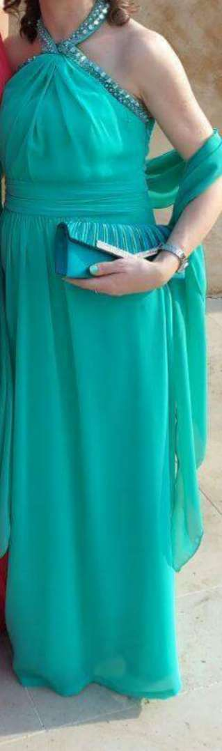 Imagen Vestido verde turquesa largo