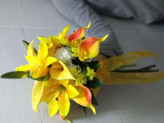 Imagen ramo de novia amarillo