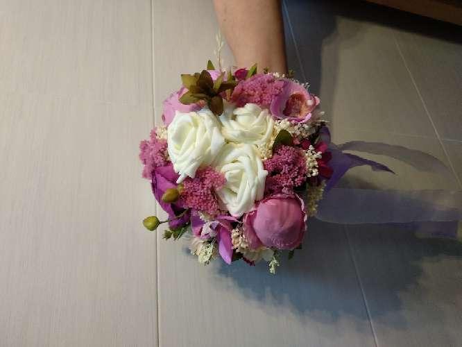 Imagen ramo de novia lila