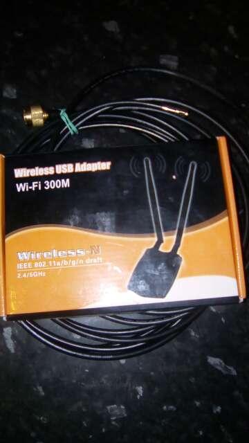 Imagen Adaptador Modem 300Mb. Wifi & cable prolongador
