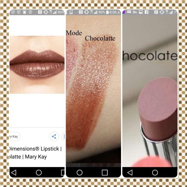 Imagen labial tono chocolate