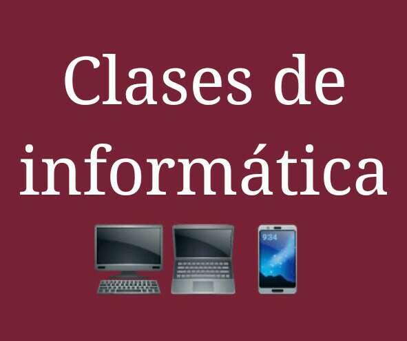 Imagen clases o ayuda con temas informáticos a domicilio.