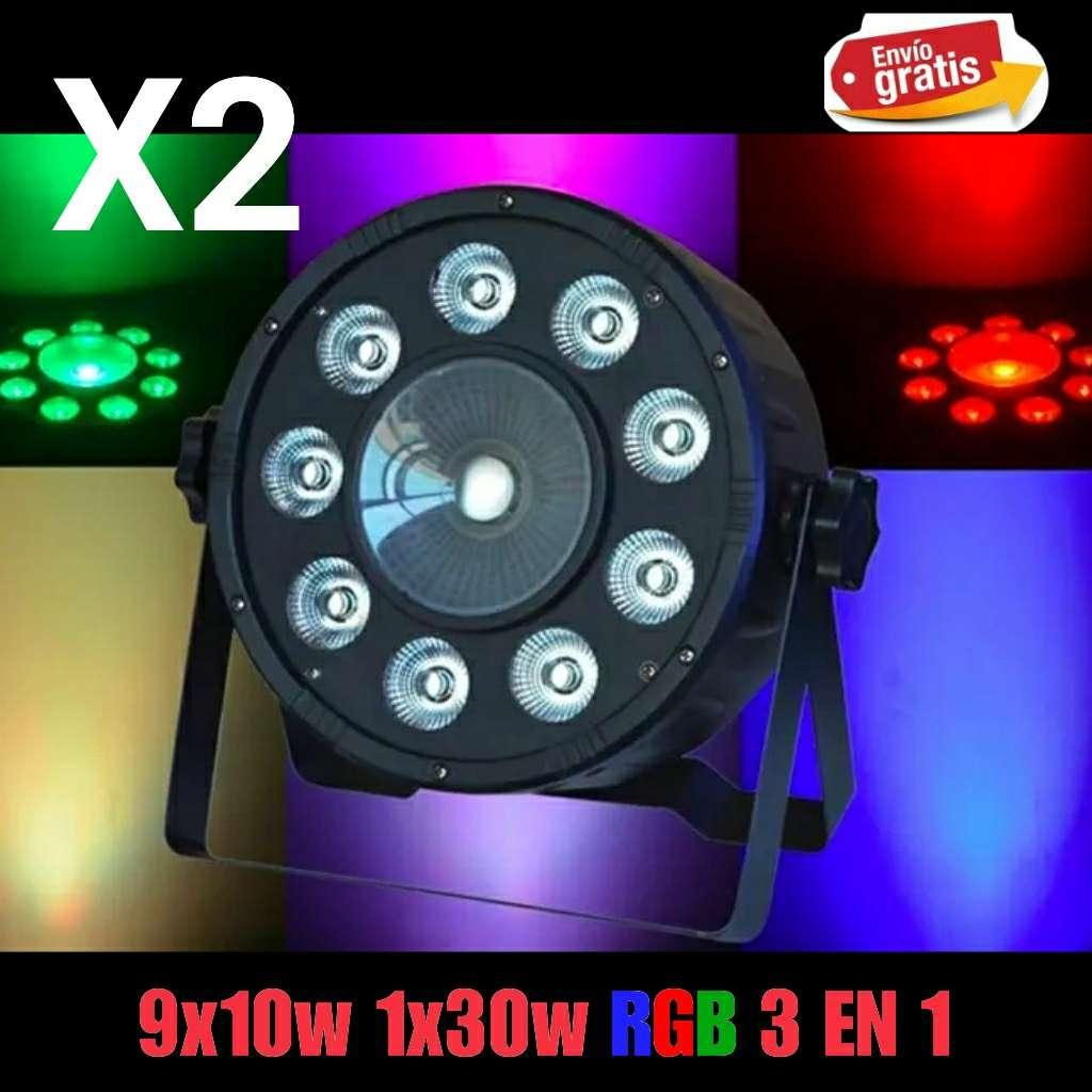 Imagen Focos Par Led RGBW 9X10W Y 1 X30W Nuevo.
