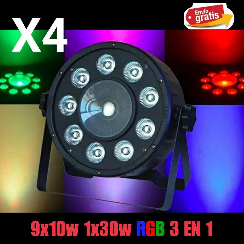 Imagen Focos Led Par RGBW 9x10w y 1x30w nuevo.