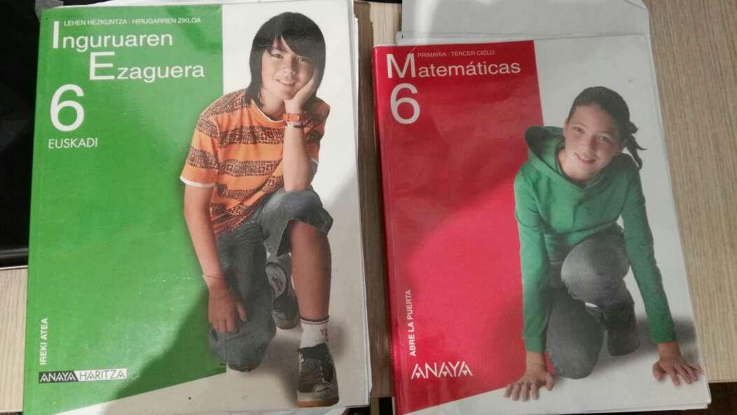 Imagen libros de primaria y 1de la eso