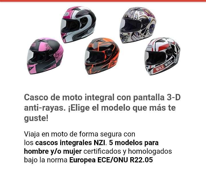 Imagen casco de moto nuevo a estrenar homologado integral para chico o chica 65 € precio al coste
