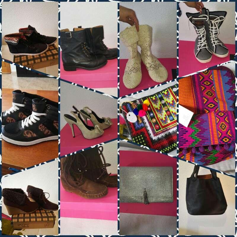 Imagen lote de ropa calzado y complementos de mujer