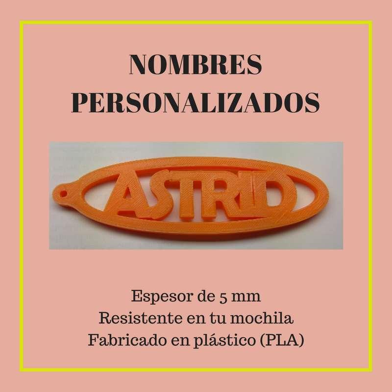 Imagen producto Llavero personalizable de mochila con tu nombre 2