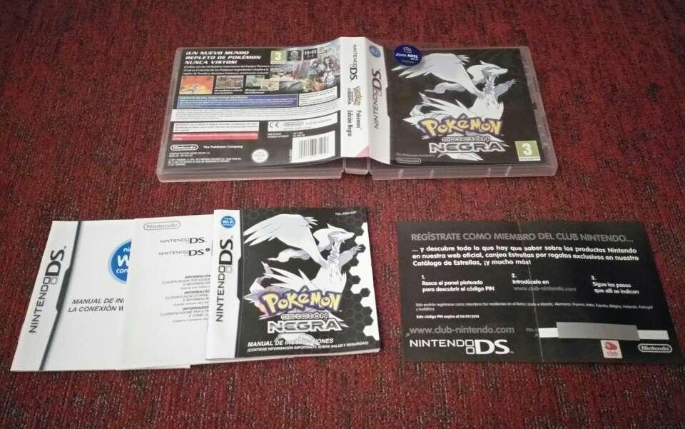 Imagen caja y manuales Pokemon edición negra, ds
