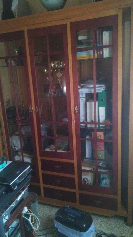 Imagen producto Vitrina de vidrio con marco de madera 4