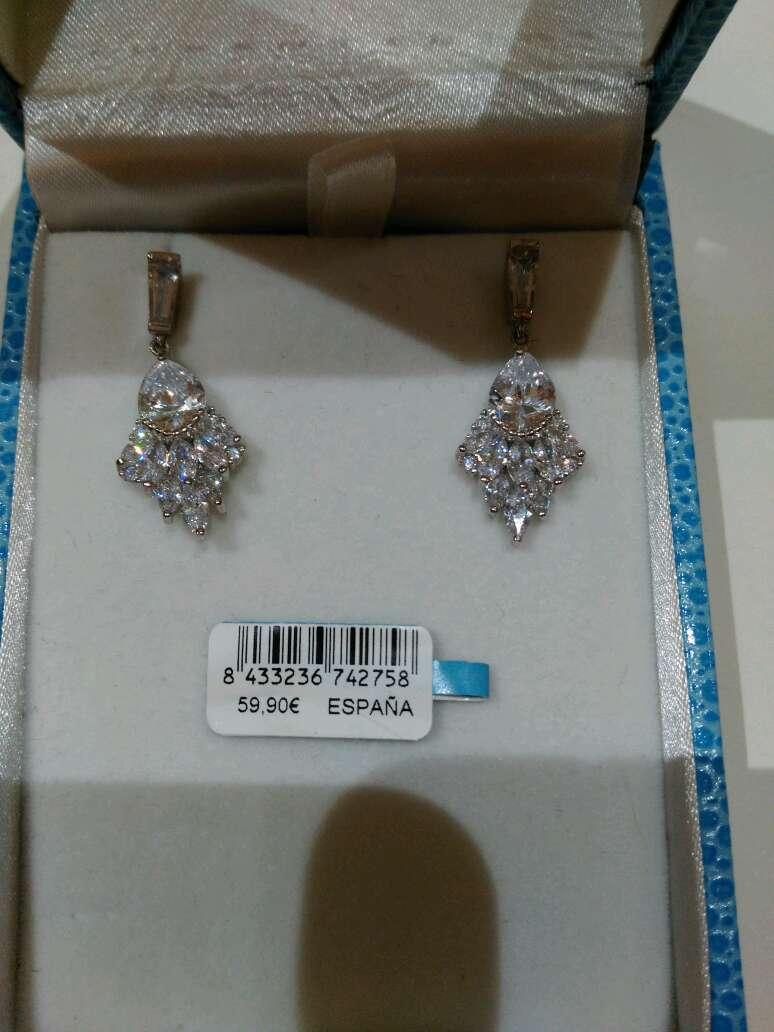 Imagen producto Pendientes de plata y cristal de Luxenter 4