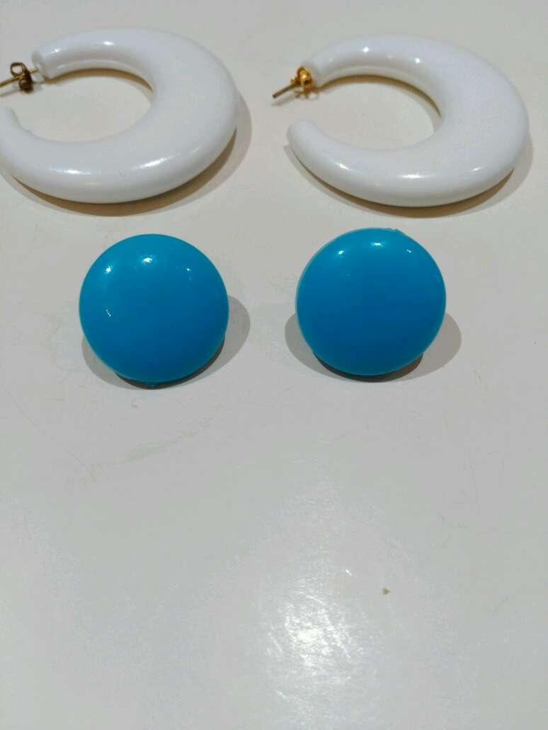 Imagen producto Pendientes vintage azules y blancos  2