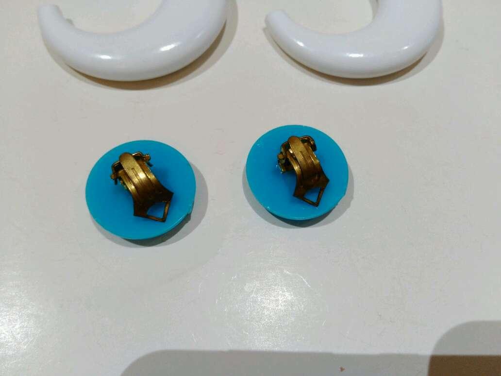 Imagen producto Pendientes vintage azules y blancos  5